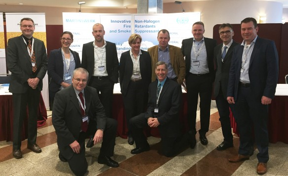 Huber's Martinswerk team gathered at Cables 2016 in Cologne, Germany.