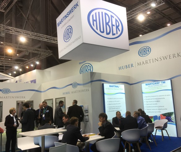 Huber | Martinswerk booth off to a strong beginning at K 2016.