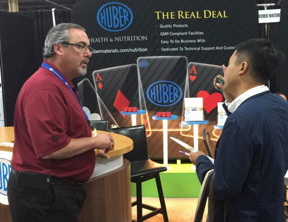Huber Engineered Materials exhibiting at SupplySide West (left photo) in Las Vegas, Nevada and at the International Wire & Connectivity Symposium (IWCS) in Providence, Rhode Island.